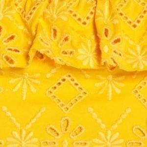 kate spade Swim - Kate Spade Yellow Lace Ruffle Bikini Bottoms